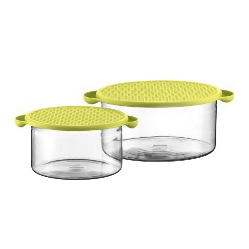 2 контейнера с крышкой для хранения и запекания, 1.0 л/2.5 л