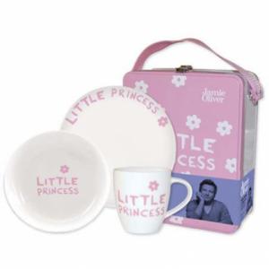Набор детской посуды в чемодане (3 предмета)
