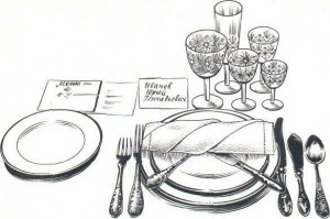 Примеры сервировки стола