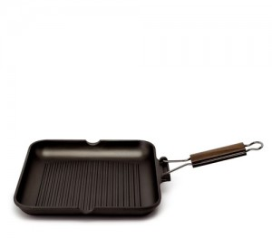 Сковорода гриль со съемной ручкой, 24 см