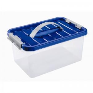 Контейнер для продуктов с клипсами и ручкой для переноса, 8 л