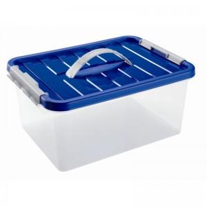Контейнер для продуктов с клипсами и ручкой для переноса, 14 л