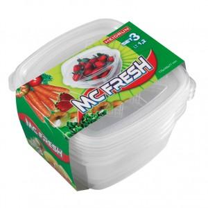 Набор пищевых контейнеров для продуктов, 3 шт