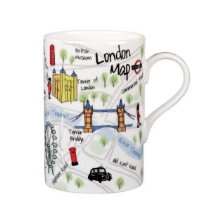 """Кружка в подарочной упаковке """"Карта Лондона"""", 0,35 л"""