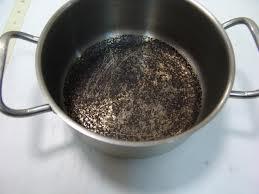Как отмыть подгоревшую посуду?