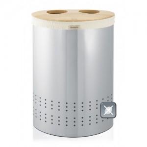 Бак для белья двойной,с деревянной крышкой, 40 л