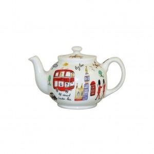 """Чайник с крышкой и чашкой в подарочной упаковке,""""Путешествие по Лондону"""", 1,4 л"""