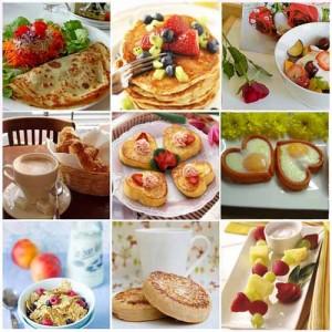 Романтический завтрак..