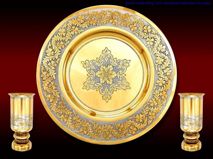 Что такое покрытие посуды золотом в 24 карата?