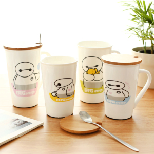 Big-Hero-6-Ceramic-Mug-Containing-Lid-Spoon-Creative-Cups-Coffee-Cups-Milk-Mug-350ml