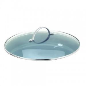 Стеклянная крышка для сковороды/кастрюли с ручкой из нержавеющей стали, круглая, 24 см