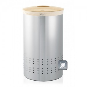 Бак для белья с деревянной крышкой, 50 л
