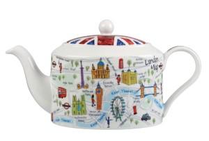 """Чайник в подарочной упаковке """"Карта Лондона"""", 0,6 л"""